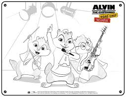 alvin and the chipmunks the road chip activity sheets as the