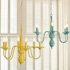 Painted Chandelier My Finer Consigner Trends Tuesday Brightly Painted