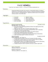 Sample Msw Resume by Best Behavior Specialist Resume Example Livecareer