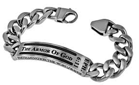 armor of god bracelet christian id bracelets for men with scripture