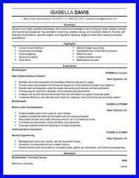 bookkeeper resume bio examples