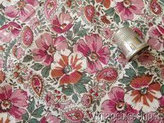 Vintage Drapery Fabric 4 1 2 Yards Gorgeous C1940s Chintz Roses Vintage Drapery Fabric 36