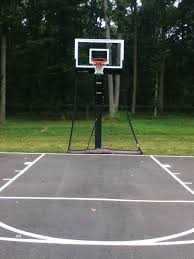 Backyard Basketball Half Court A Backyard Half Court With Striping Is Can Be An Inspiring Early