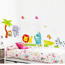cartoon animals diy 3d vintage wallpaper vinyl wall stickers for see larger image