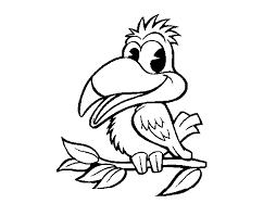 coloring page parrot sympathetic color online coloringcrew bebo