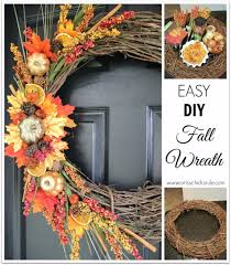 Fall Homemade Decorations - 35 fall wreaths for your door page 2 of 7 diy joy