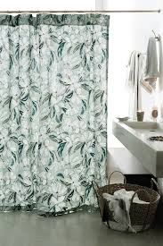 Ruffle Shower Curtain Anthropologie Curtain Beautiful Bathroom Decor Ideas With Floral Shower Curtain