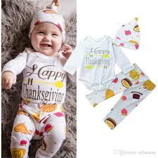newborn infant baby boy thanksgiving day cotton romper deer