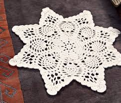 Free Crochet Patterns For Rugs Chunky Doily Rug Free Crochet Pattern Craftfoxes