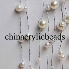 wholesale 6mm 8mm 10mm 12mm acrylic pearl bead garland strand