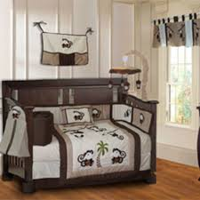 Brown And Blue Bedding by Baby Nursery Baby Room Decor Idea With Dark Brown Crib Combine