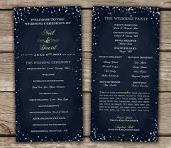 winter wedding programs starry chalkboard wedding programs diy printable