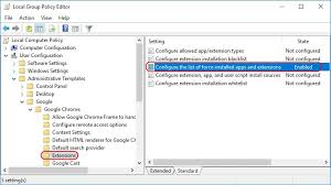 deploying google chrome extensions using group policy dennis span