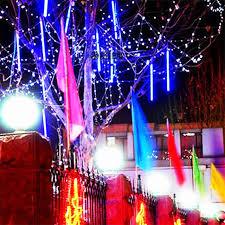 outdoor string lights rain multi color 30cm meteor shower rain 8 tubes ac100 240v led christmas