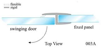 Shower Door Stop Glass Door Seal For Shower And Bath Application Professional