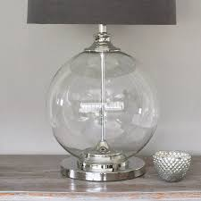 mercury glass ball lights glass ball table l and grey shade by primrose plum