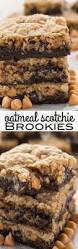 Oatmeal Bars With Chocolate Topping Deep Dish Fudgy Oatmeal Bars High Heels And Grills Cookies