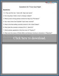 printable trivia questions lovetoknow