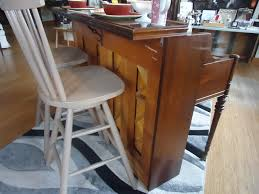 Kitchen Island With Barstools by Repurposed Breakfast Bar Kitchen Island With High Back Bar Stools