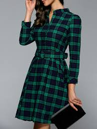 stand collar plaid dress plaid dress plaid and collars
