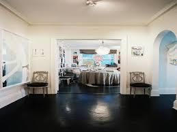 black painted wood floors modern interior design inspiration