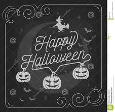vintage happy halloween background on chalkboard stock vector