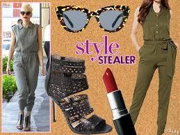 top gun jumpsuit style stealer gwen stefani s slouchy jumpsuit is top gun worthy