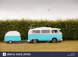 An Old Restored Vw Camper Van Stock Photo Royalty Free Image