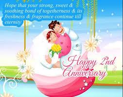 2nd wedding anniversary wedding anniversary images and greetings