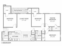 four bedroom floor plans 4 bed 2 bath apartment in springfield mo coryell crossing