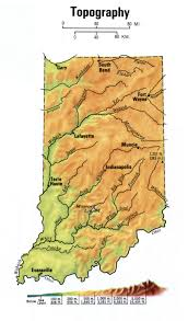 Topographic Map Usa by Landscape Indiana