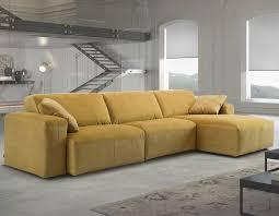 canape d angle relax electrique canapé d angle relax électrique en tissu jaune hcommehome