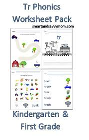 tr consonant blend free printable worksheet pack kindergarten