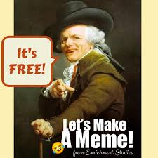 Make A Meme For Free - make your own art meme language arts activity blog