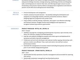 Sample Resume Product Manager by Product Manager Resume Samples Resume Sample