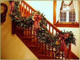 Christmas Banister Garland Christmas Staircase Garland Home Design Ideas