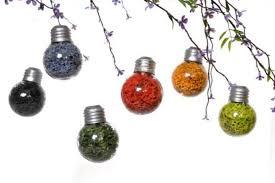 sale 6 colorful mini lightbulb ornaments hanging wedding