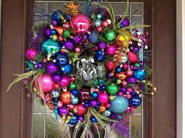 multi color ornaments wreath by hanginabout on etsy