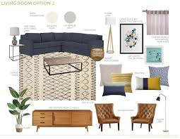 mixing mid century modern and rustic living room design staged living room mcm modern plan design