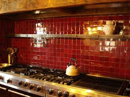 kitchen astonishing red glass tile kitchen backsplash red wall