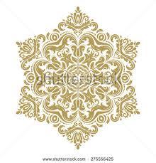 vector pattern arabesque floral elements stock vector