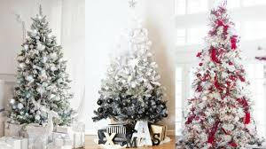 white christmas tree decorating ideas for 2017 youtube