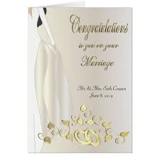 congratulations on your wedding congratulations on your marriage card zazzle