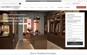 meticulosity launches california closets canada website