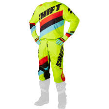 motocross gear for youth shift 2017 new mx kids whit3 tarmac flo yellow youth motocross