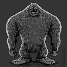 bigfoot full body sketch 02 coghill cartooning cartooning