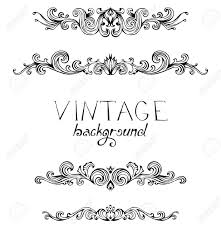 retro style set of vintage ornaments and dividers royalty free