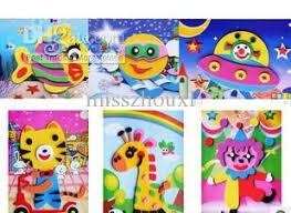 kid craft kits 2017 wholesale kids diy craft kits 3d sticker ornament animal