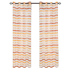 Shower Curtain 84 Length Lavish Home White Mia Jacquard Grommet Curtain Panel 84 In