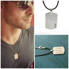 mens engraved necklaces mens dog tag necklace mens jewelry personalized mens gift